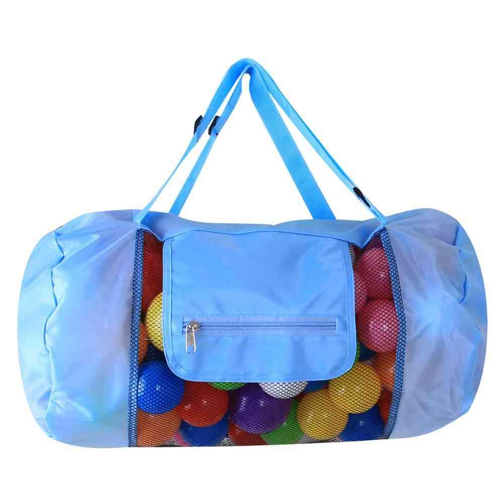 Mesh Tote Bag For Toy Organizer-  Foldable Storage Handbag