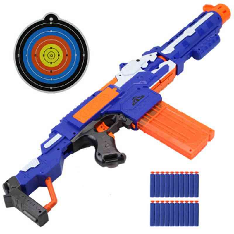 Plastic Toy Gun With Soft Head Bullets And Target For Kids