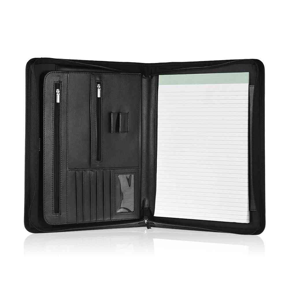Professional Zippered A4 Document Folder-multi Functional Portfolio