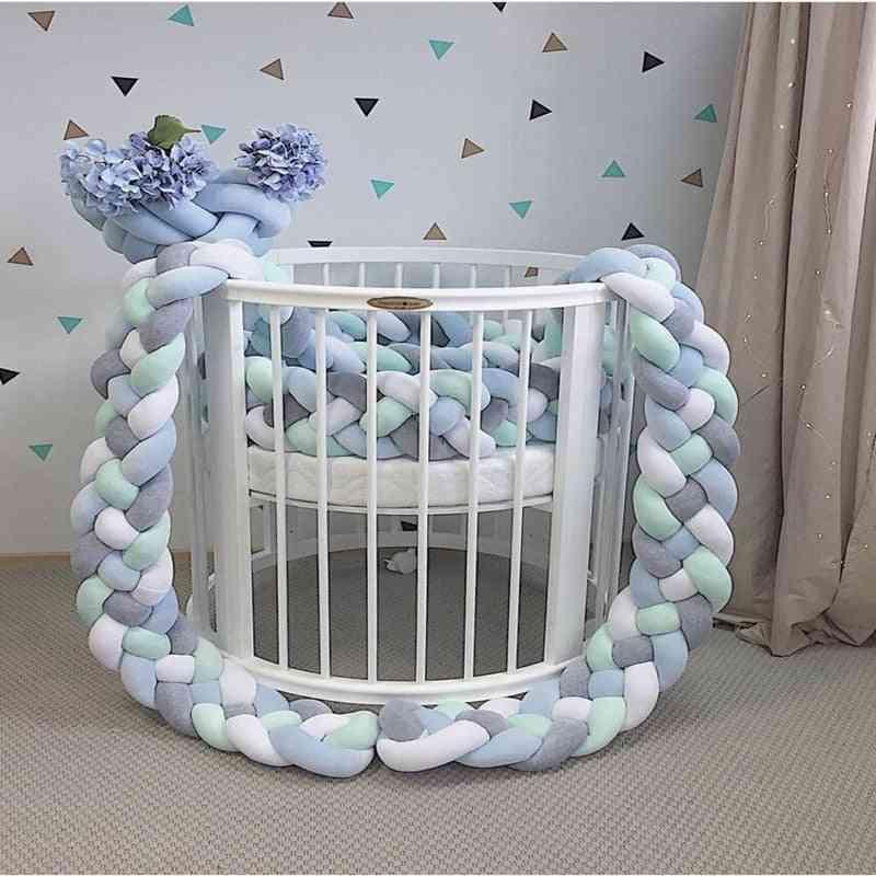 Handmade Long Knot Design-newborn Baby Bed Bumper