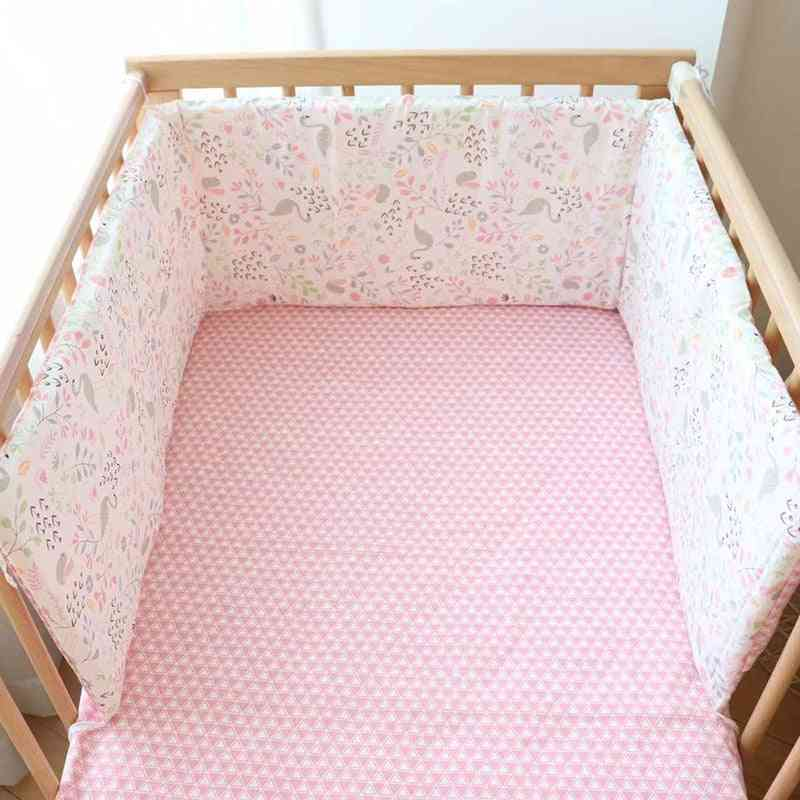 Soft Cotton, Foldable And Detachable Bed Bumper For Newborns