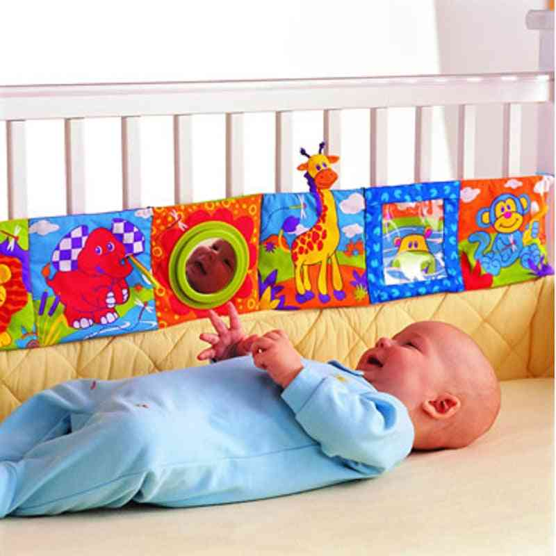 Infant Rattles Cloth Book Knowledge Around Multi-touch Crib Bed Bumper