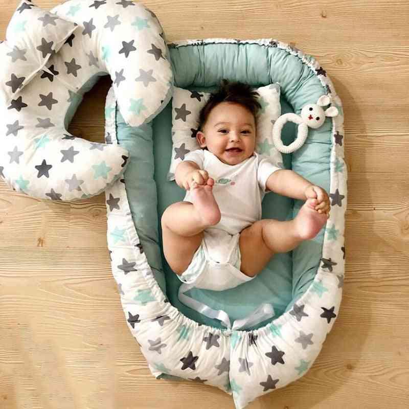 Portable Crib, Travel Bed Baby Bumper For Newborn