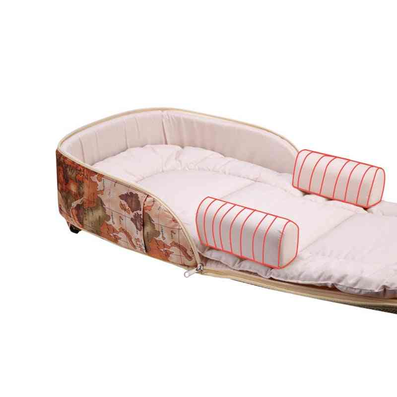 Portable Baby Crib, Multi-function Single Bed