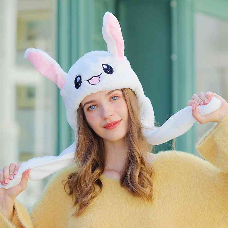 Unique Toy Bunny Hat With Moving Ears, Airbag Rabbit