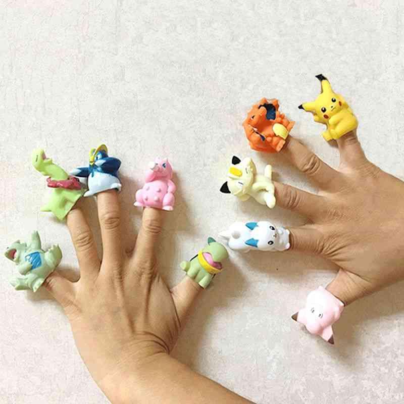 Pokemon Pikachu Finger Doll, Model Anime Hand Puppet Collection