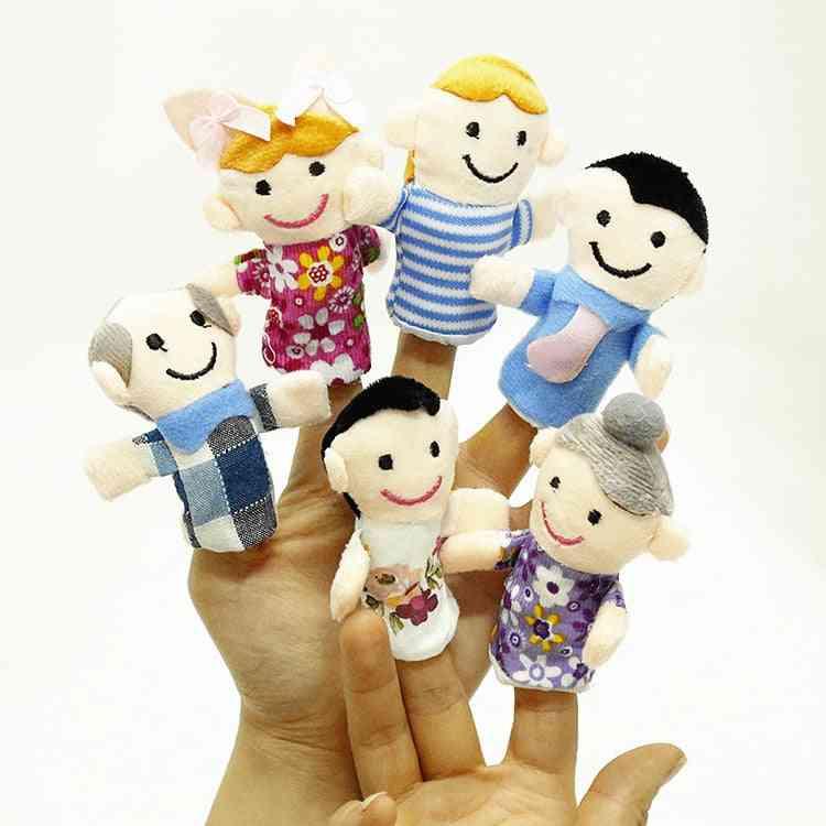 Cute Cartoon Biological Animal Finger Puppet Plush, Baby Favor Dolls