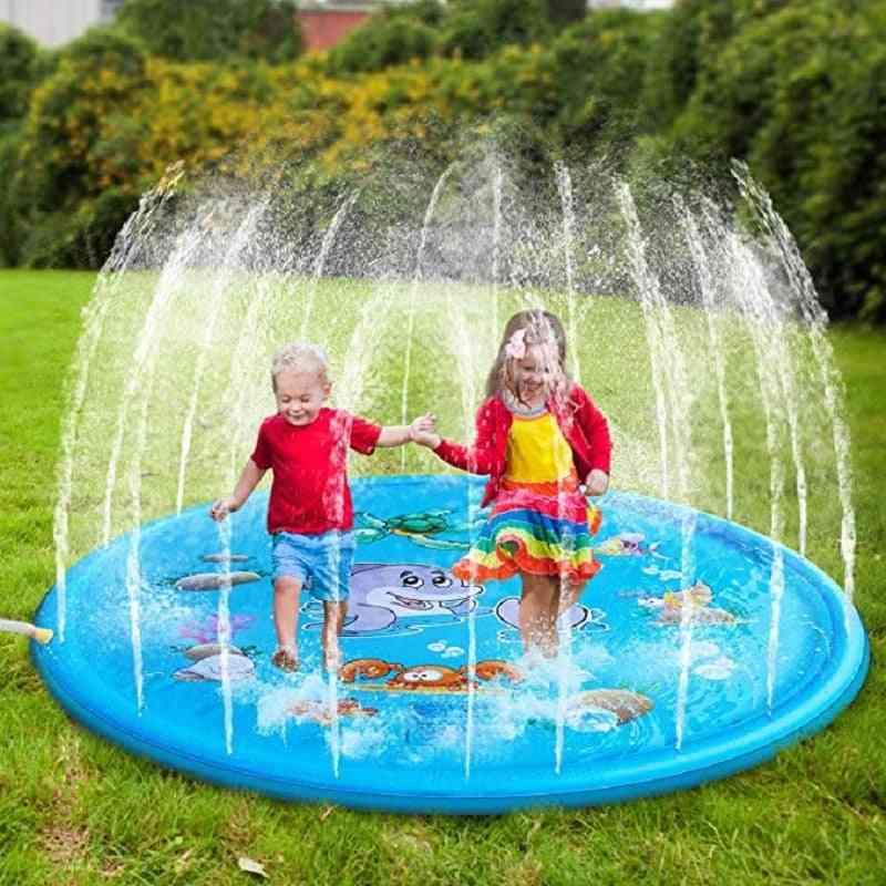 170cm Inflatable Spray Water Cushion Summer Kids Play Water Mat Pad Sprinkler, Outdoor Swiming Pool
