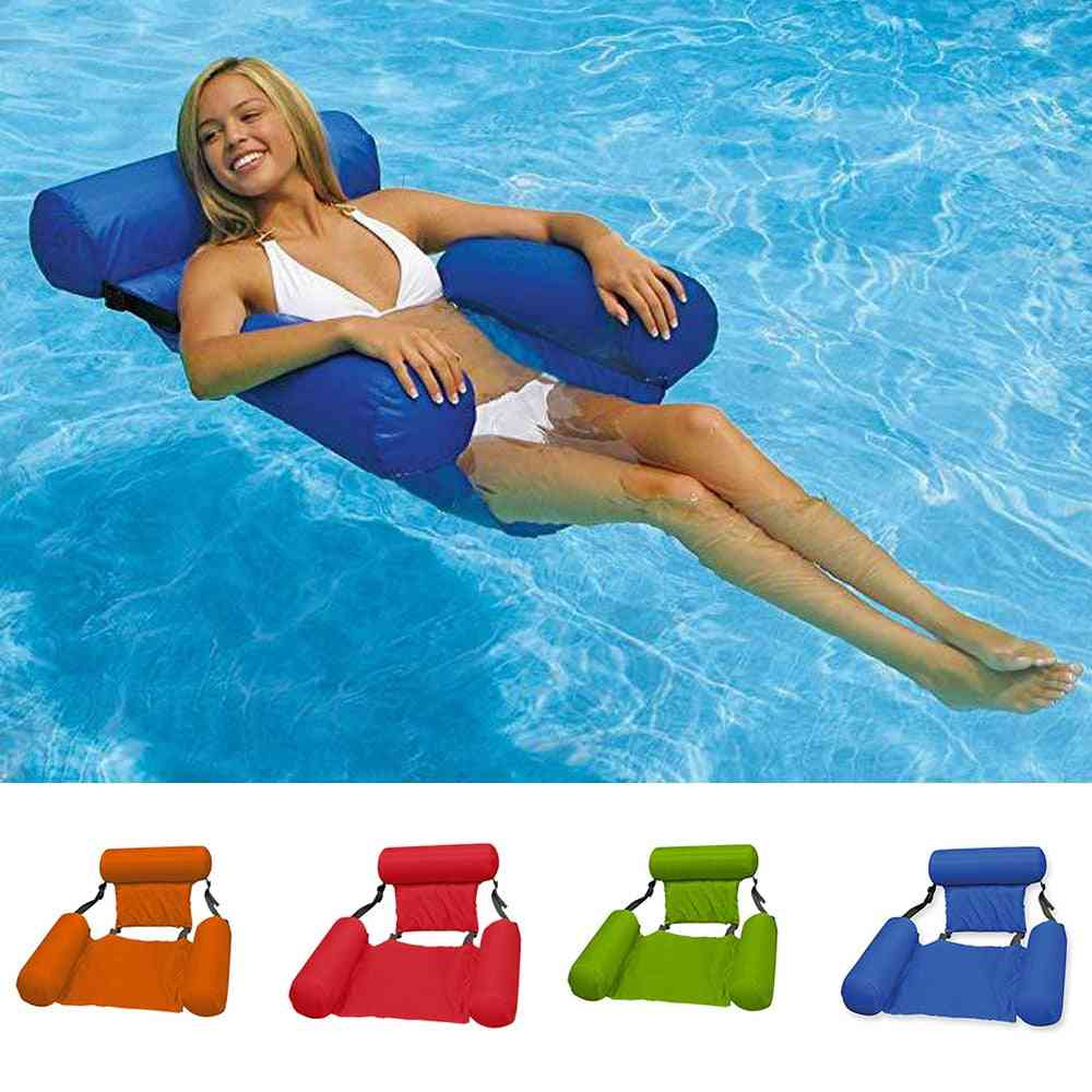 Swimming Floating Chair-foldable Lightweight Adult Bed Seat