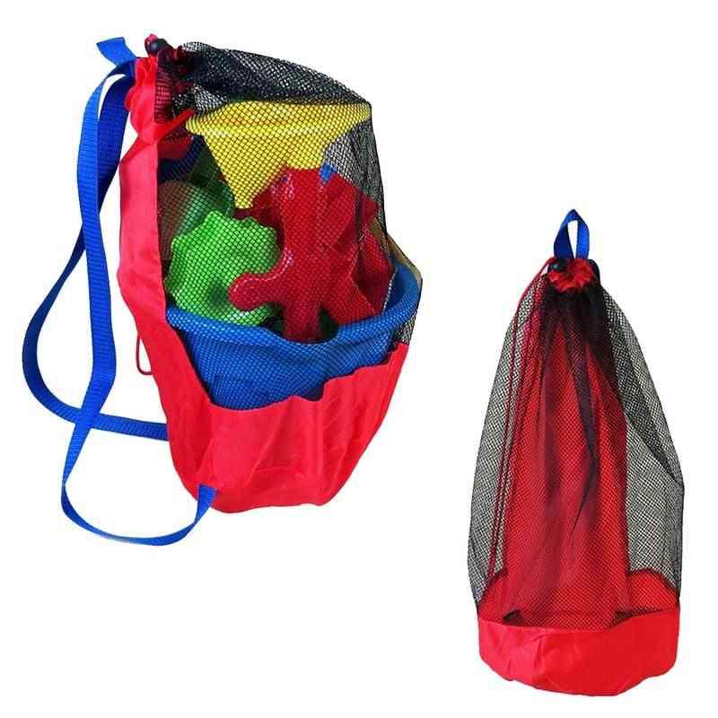 Portable Beach Storage Mesh Net Bags For Kids