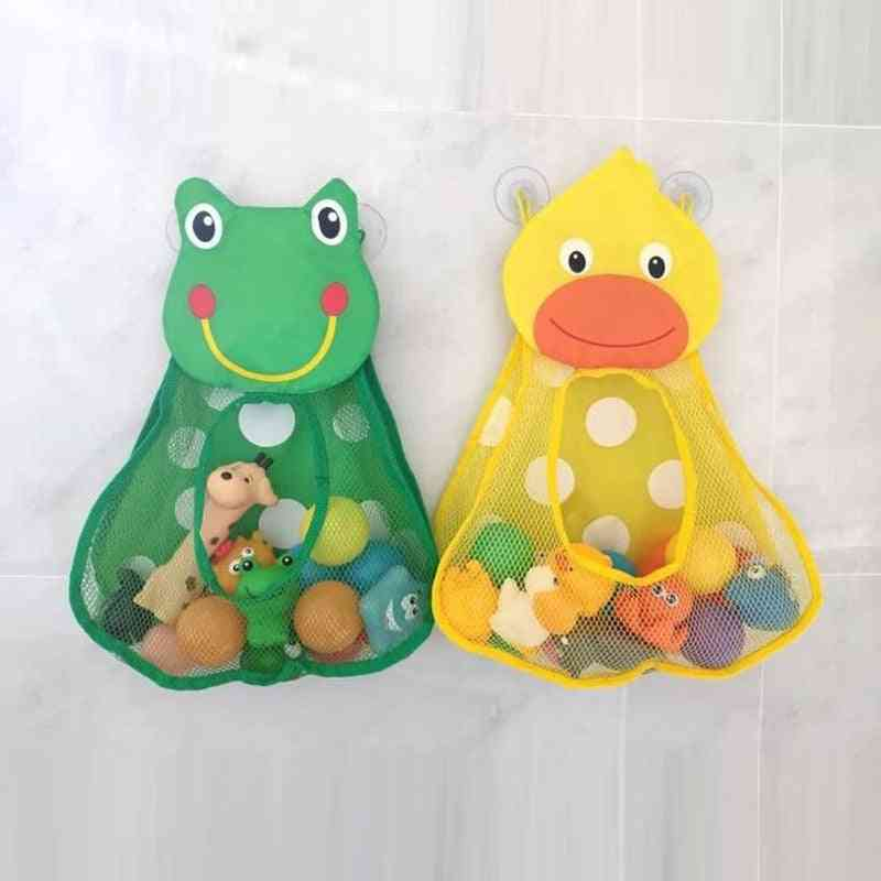 Duck Little Frog Rabbit Baby Kid Toy -storage Mesh With Suction Cups