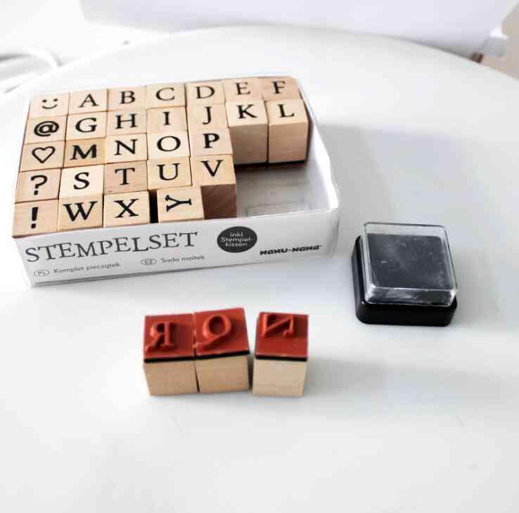 Decorative Scrapbook Wooden English Alphabet Stamp