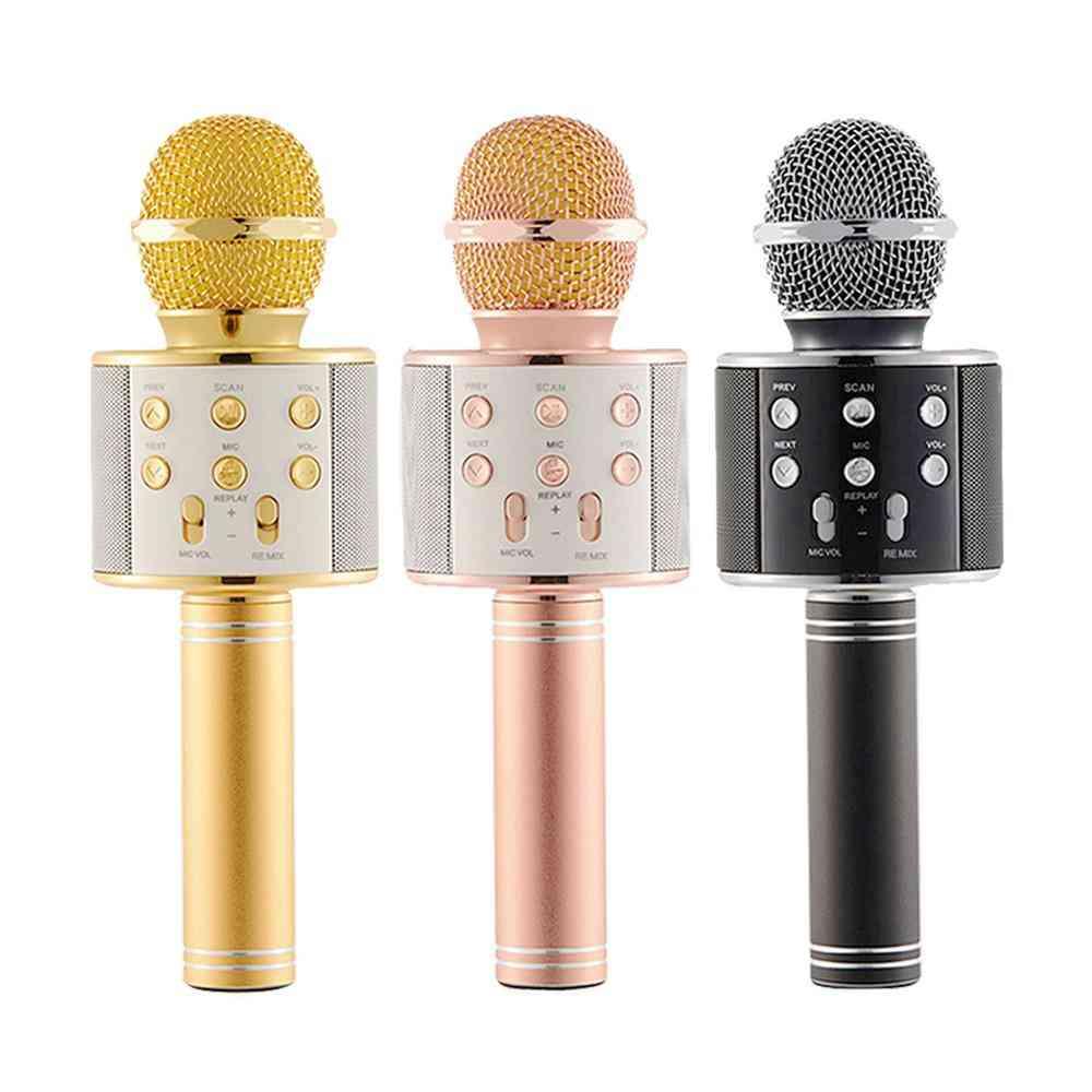 Children Wireless Microphone Toy, Portable Bluetooth Player Speaker