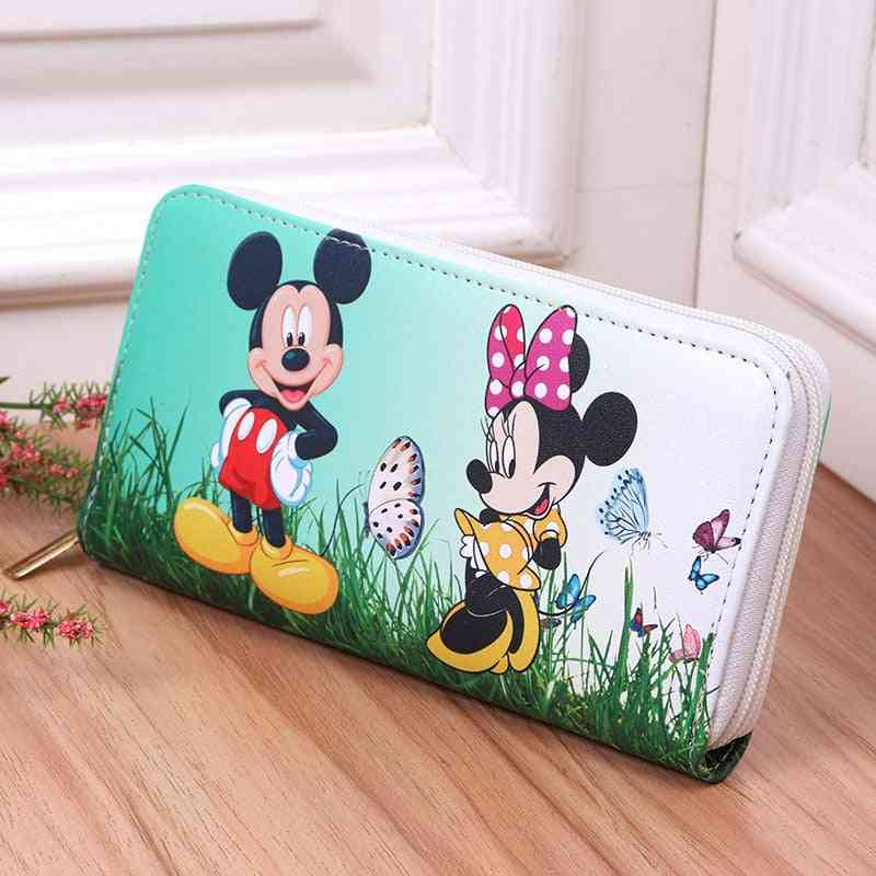 Cartoon Mickey Minnie Mouse Pu Leather Cute Girl Wallet