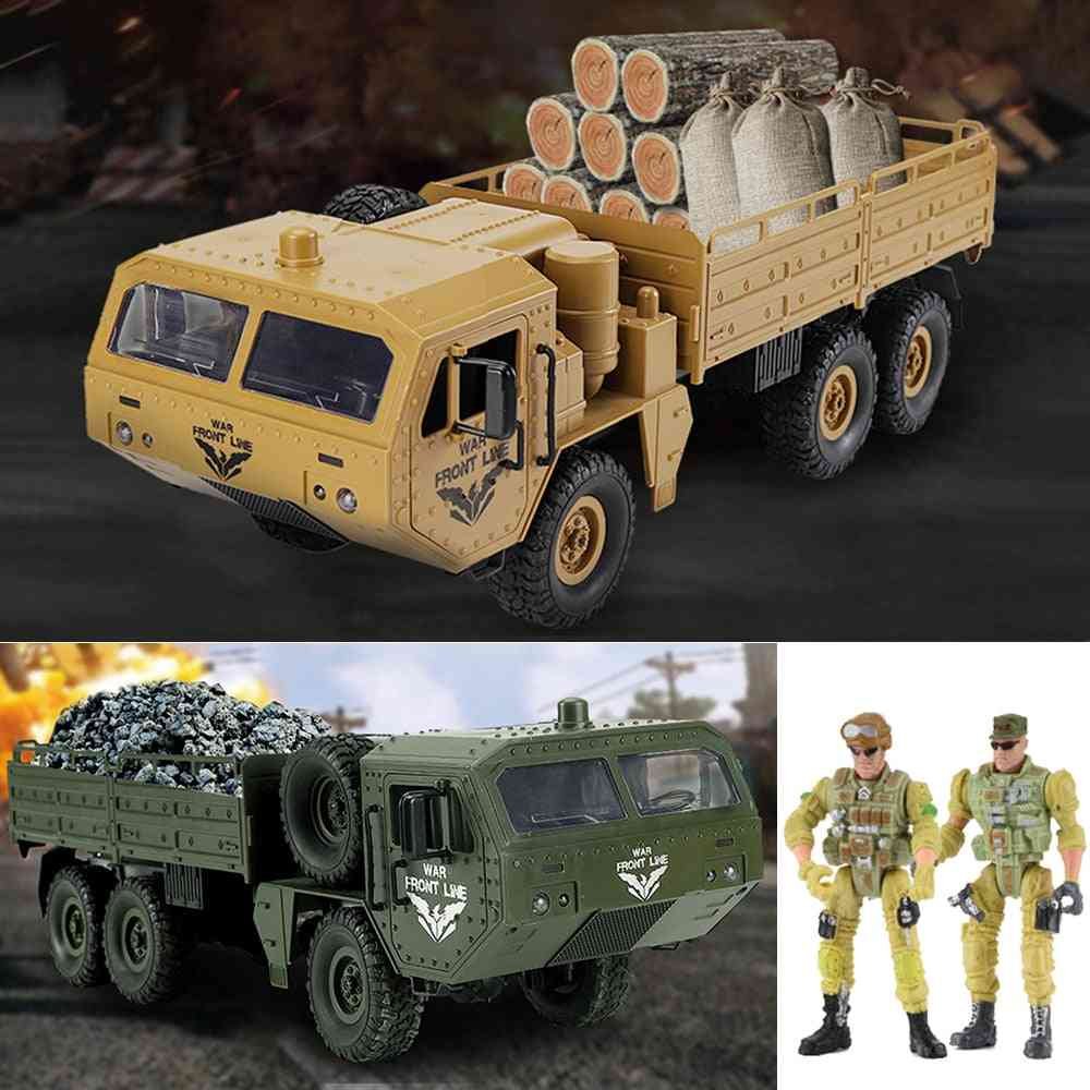 1/16 6wd 2.4g Remote Control Military Trucks -army Electric Vehicles