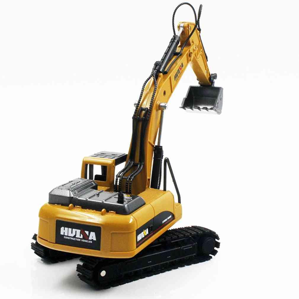 Excavator Truck Car, Die-cast Metal Construction Vehicle Model Toy