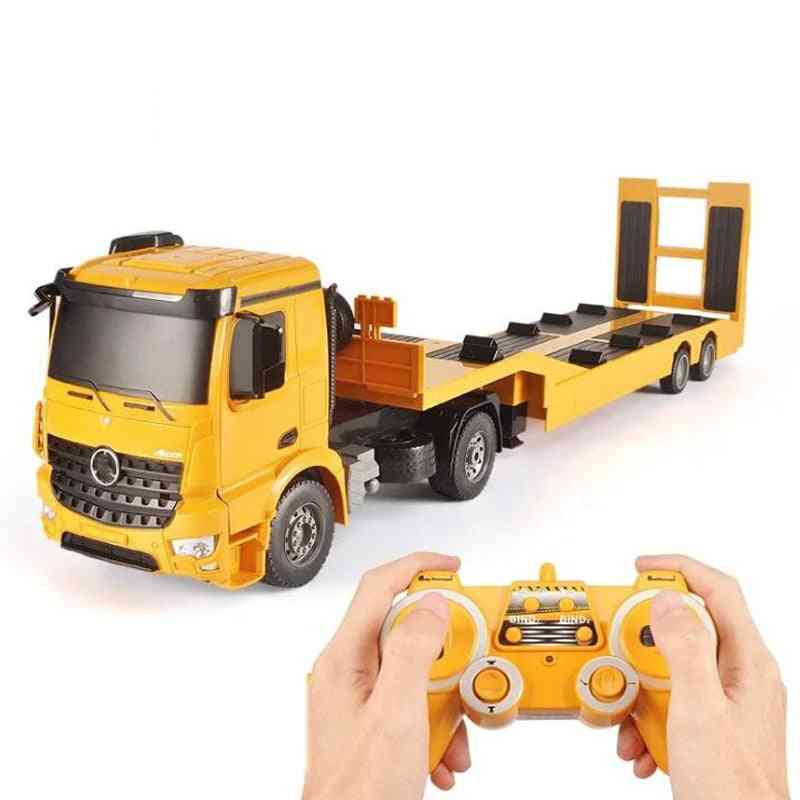 Flatbed Truck Trailer-electric Remote Control Engineering Toy