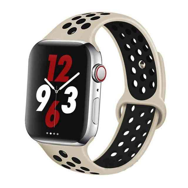 Silicone Wristband Suitable For Apple Watch-breathable Bracelet (set-24)