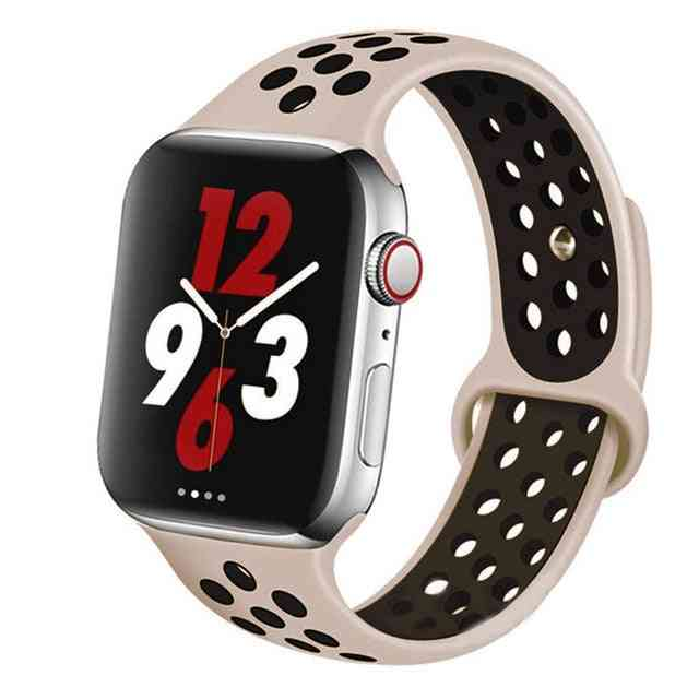 Silicone Wristband Suitable For Apple Watch-breathable Bracelet (set-16)