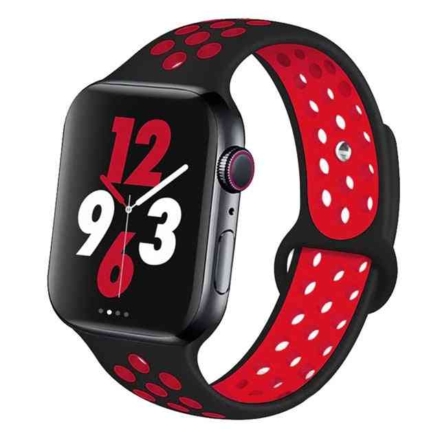 Silicone Wristband Suitable For Apple Watch-breathable Bracelet (set-14)