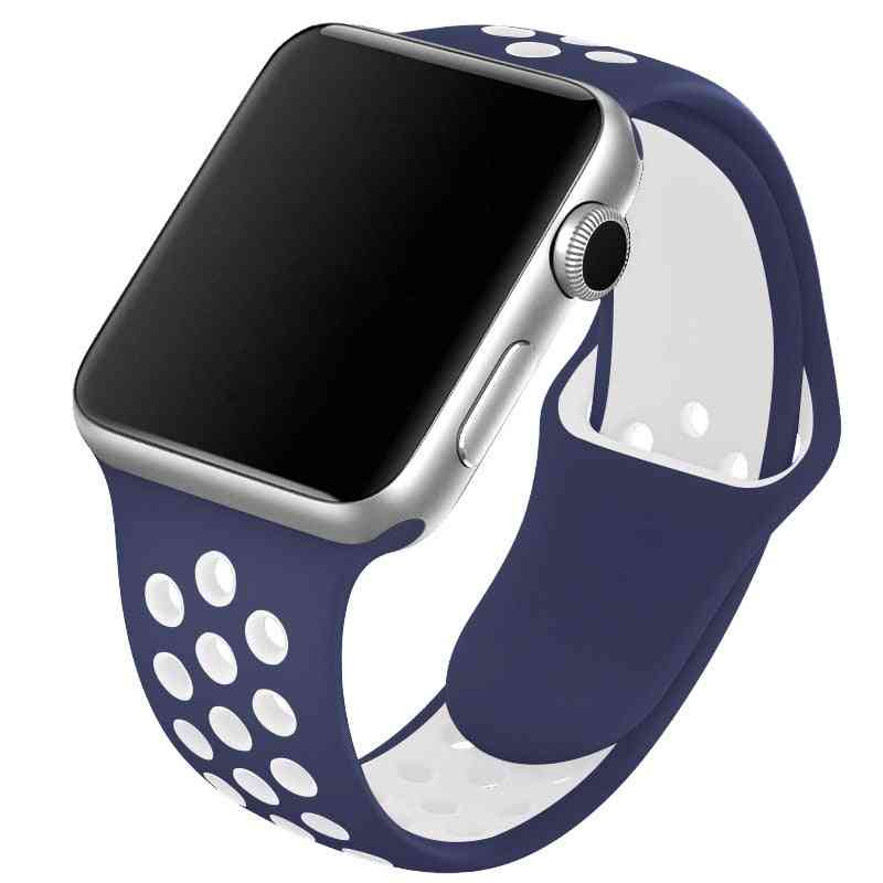 Silicone Wristband Suitable For Apple Watch-breathable Bracelet (set-2)