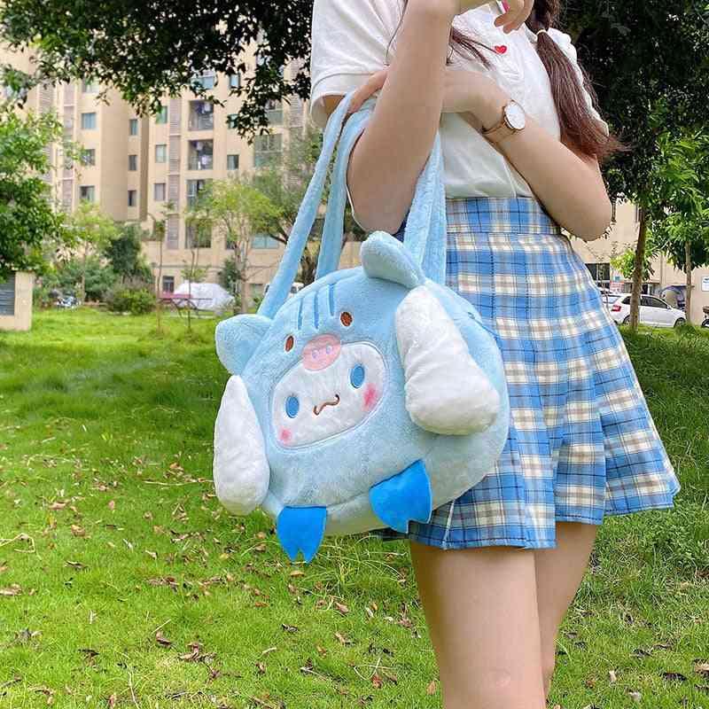 Plush Bags, Lovely Cartoon Wallet Purse, Large Capacity Cat Shoulder