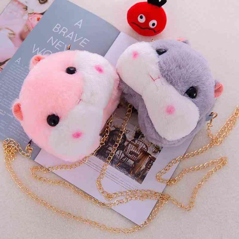 Small Fresh Literary Dumb Cute Hamster Coin Purse, Girl Shoulder Bag