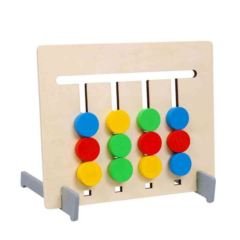 Double-sided, Color And Fruit Pairing Wooden- Logical Reasoning Training
