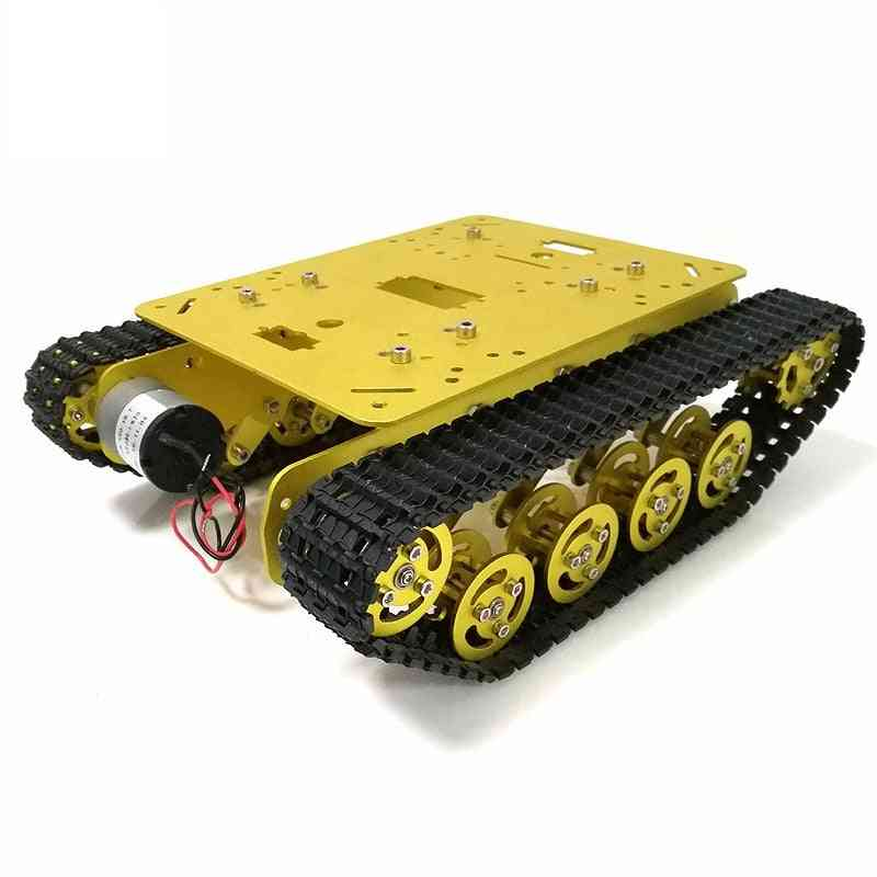 Metal Remote Control Robot Tank Car With Suspension System