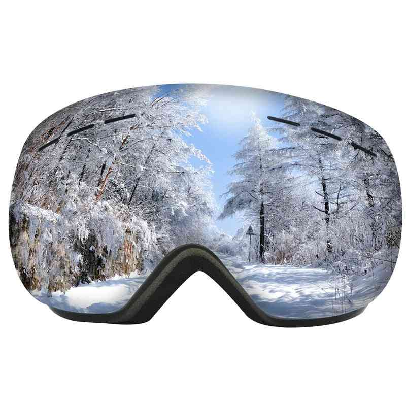 Uv400 Protection, Double Layers Anti-fog Glasses-snowboard Goggles
