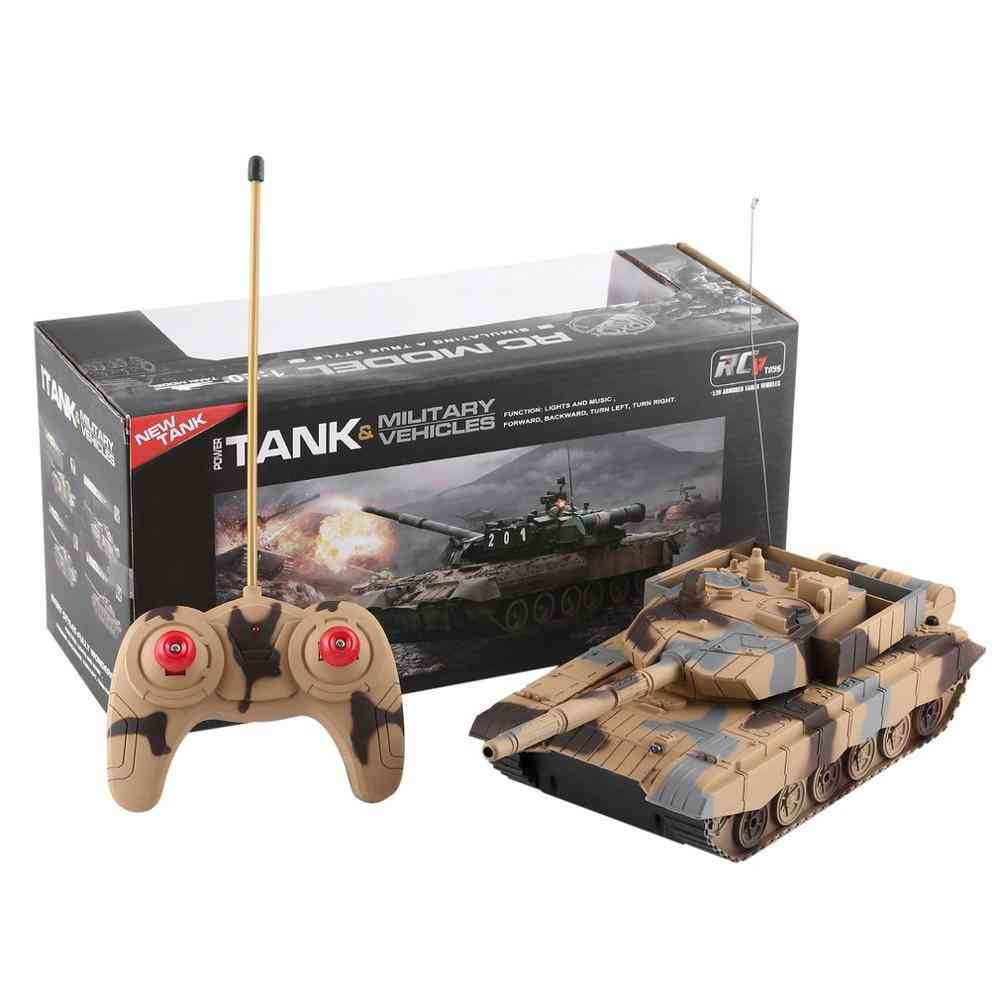 1:20 4ch Remote Control Military Tank Toy With Indicator Light