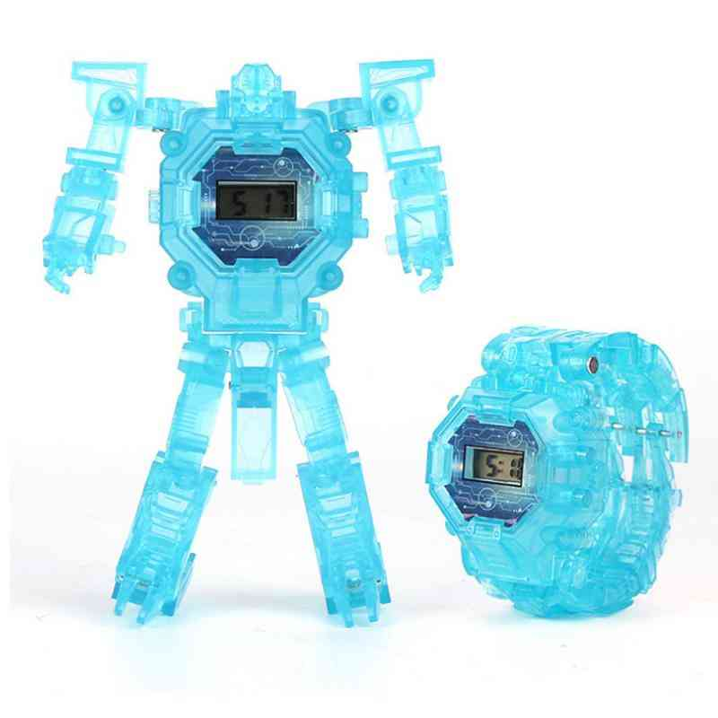 Luminous Deformation Robot Watch-electronic Toy For