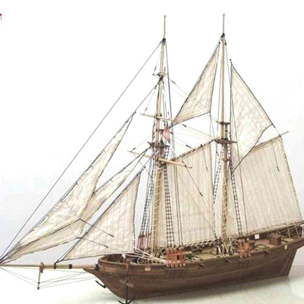 Handmade Wooden Sailing Boat-diy Assembly Toy