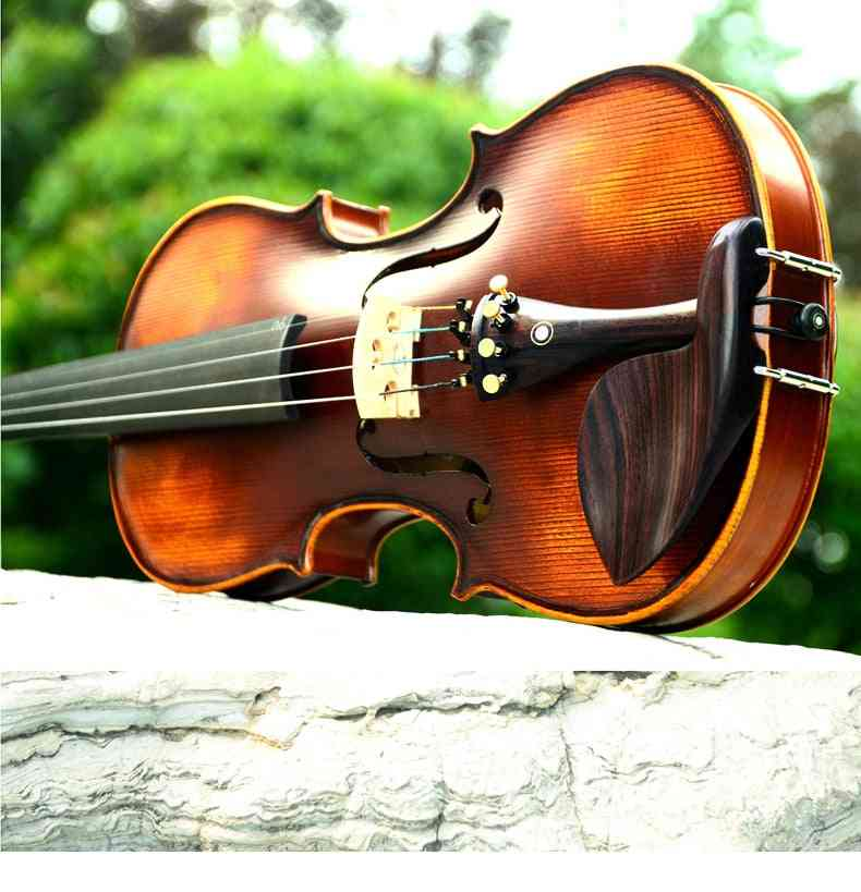 Christina Violin Handmade V02 Antique Maple 3/4 Musical Instrument With Fiddle Case Bow And Rosin