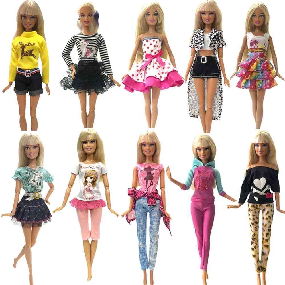 Fashion Outfits Daily Wear Dress, Shirt Cloths For Barbie Doll