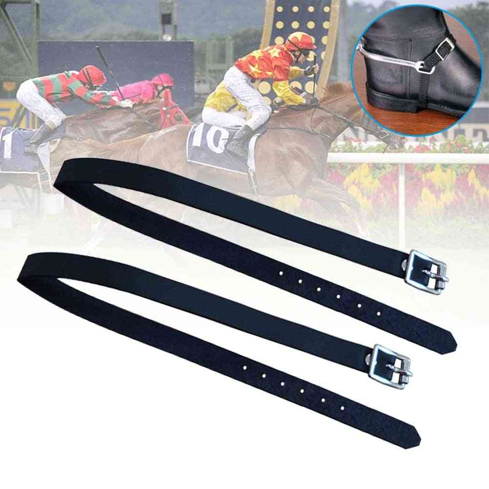 Long Training Horse Riding Pu Leather Sports Accessories, Outdoor Durable Solid With Buckle Protective Equipment