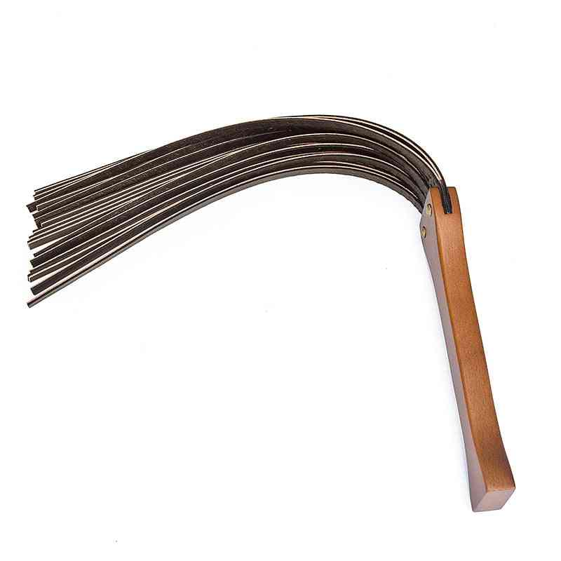 Handwork Make Ancient Wooden Handle Genuine Cow Leather Deluxe Riding Crop Whip