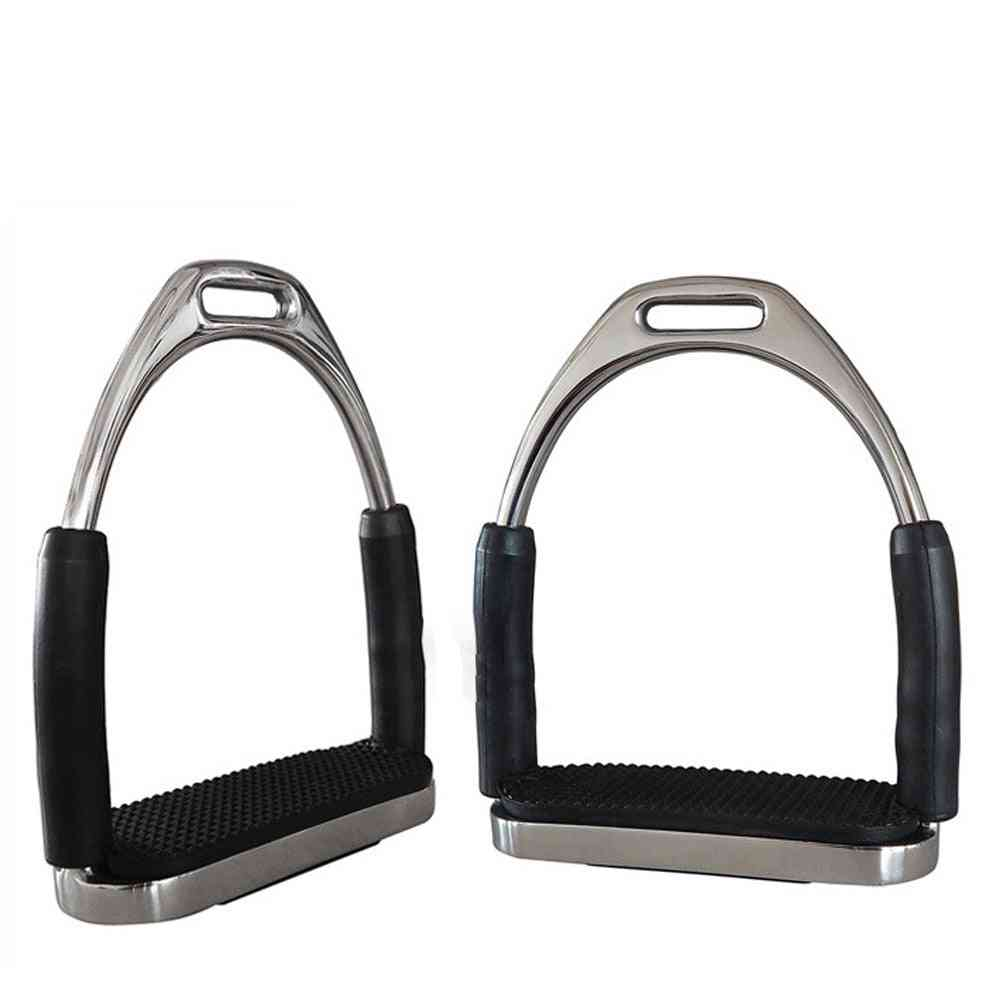 Stainless Steel Horse Riding Stirrups- Safety Flexible Pedals