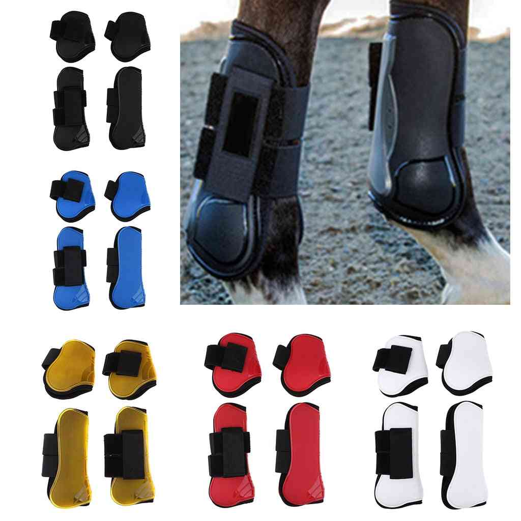 4 Piece Set Of Horse Front And Hind Leg Boots-eqestrian Training Aid