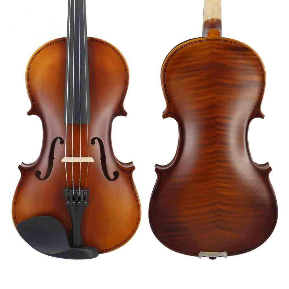 Matte Finish, Solid Wood Violin For Beginners