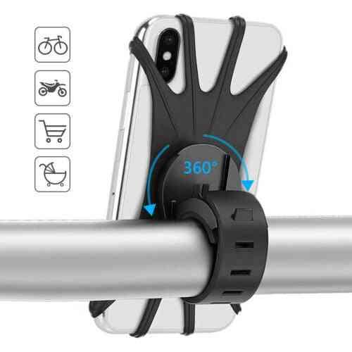 Bicycle Mobile Phone Holder, Silicone Handlebar Mount Bracket