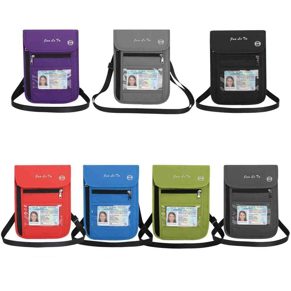 Journey Card Neck Pouch, Wallet Key Bag With Blocking