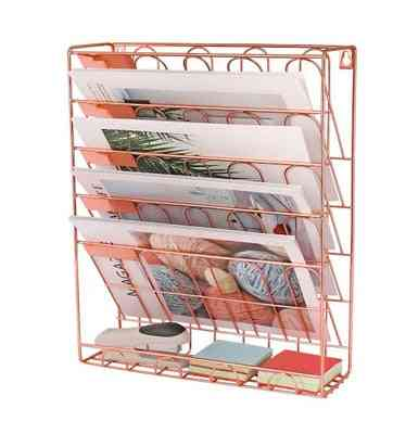 Simple Bookshelf, Desktop Books Magazine Storage Rack