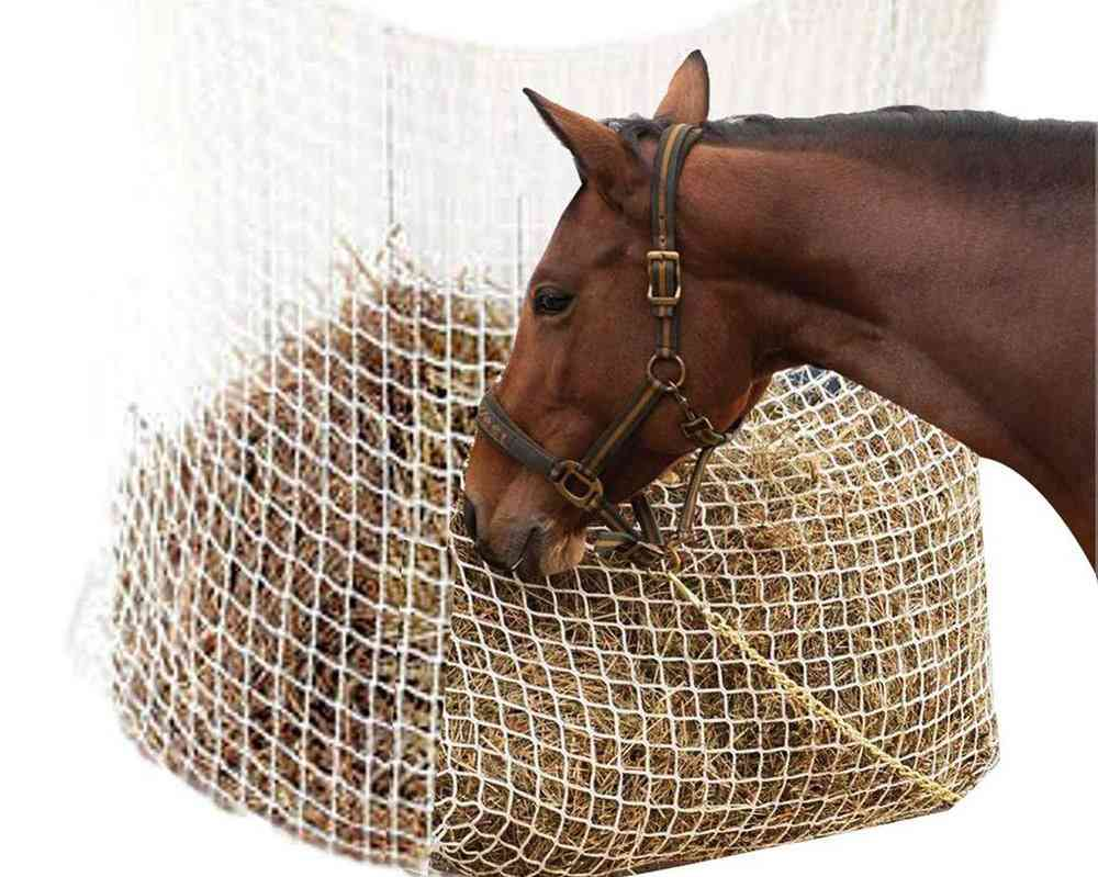 Hay Net Bag, Slow Horse Feeder, Full Day Feeding Large With Small Holes
