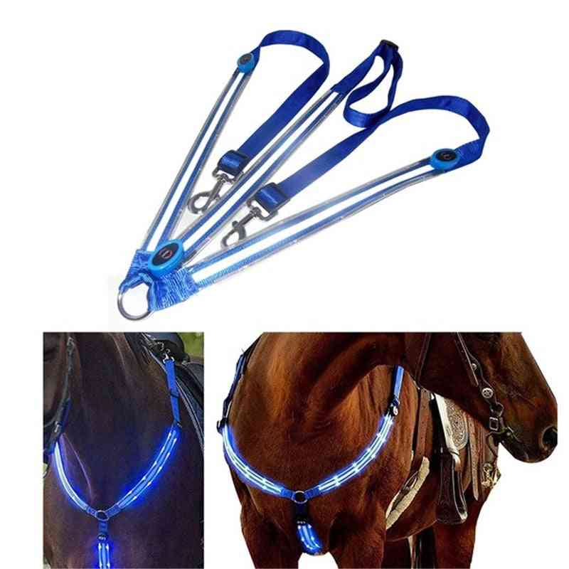 Waterproof Led Horse Riding Chest Belt For Night Visible