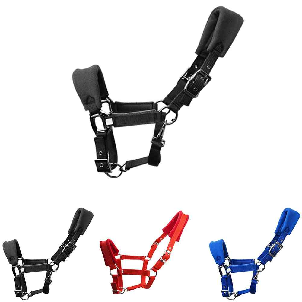 Double Layered Fleece Padded, Horse Halter Practical Adjustable Strap, Protective Accessories