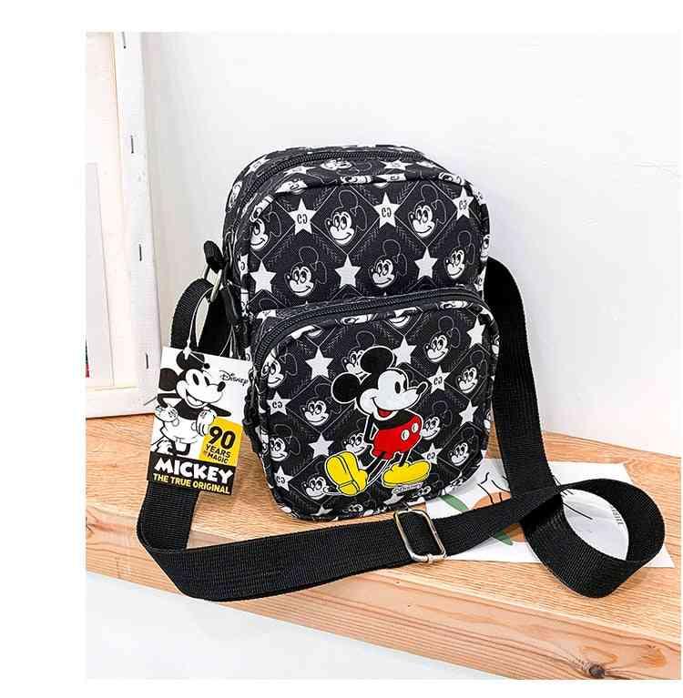 Disney Cartoon Mickey Mouse Shoulder Bag- Women Messenger Bag, Lady Coin Phone Bag