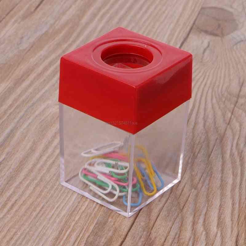 Magnetic Clip Dispenser Paper Holder Square Box Case