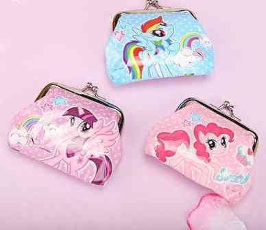 Little Horse Print Mini Coin Purse With Buckle For Kid