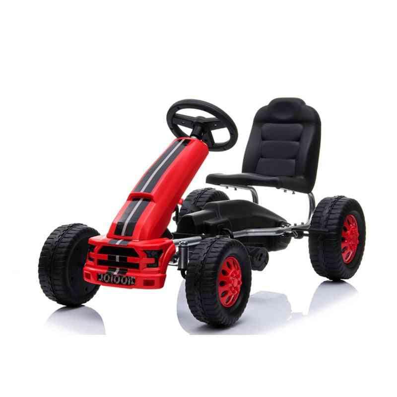 Pedal Go Kart 4 Wheels Push Bike, Ride On Toy For